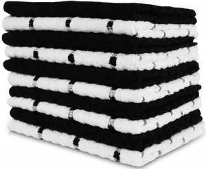 Utopia Towels Ringspun Soft Cotton Towels, Pack of 12, Black and White