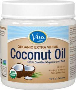 Viva Labs The Finest Organic Extra Virgin Coconut Oil, 16 Ounce