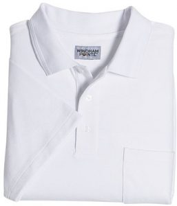 Windham Pointe Solid Pique Pocket Polo Shirt
