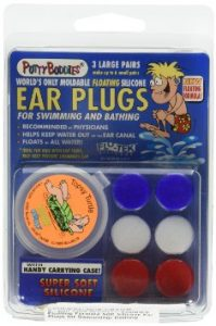 3-pair Pack of PUTTY BUDDIES Floating Formula Soft Silicone Ear Plugs for Swimming Bathing