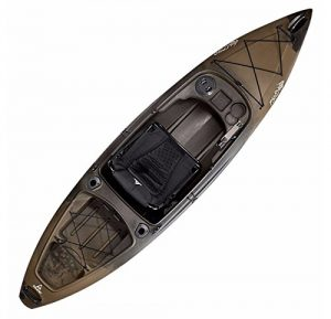 Advanced Performance Sit-In Angler Fishing Kayak Including A V-Style Hull With A Deluxe Removable Seating System For Enhanced Comfort (Camo)