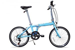 Allen Sports Urban X Aluminum 7 Speed Folding Bicycle, Sky, 12-InchOne Size