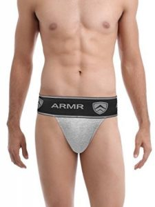 Armr JockStrap Gym Athletic Cotton Supporter Thermal Control with Cup Pocket for Mens