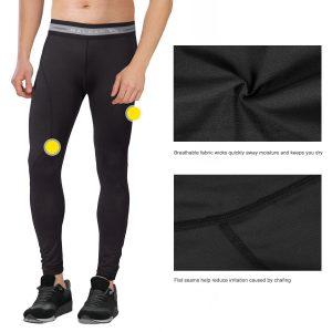 Baleaf Men's Running Fitness Workout Compression Base Layer Tights