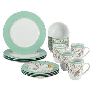BonJour 16-Piece Dinnerware Fruitful Nectar Porcelain Set