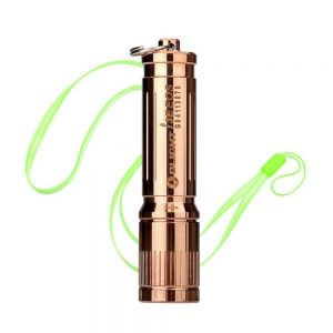Bundle Olight I3E EOS COPPER Philips LUXEON TX LED 120 Lumens Miniature LED Flashlight Use AAA battery With Skyben Hand Strap Lanyard(Copper)