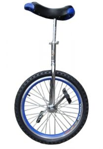 Fantasycart 16 Unicycle Cycling in & Out Door Chrome Colored with Skidproof Tire