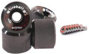 Fireball Incendo 70mm Longboard Skateboard Wheels (Set of 4 Wheels) WITH BEARINGS