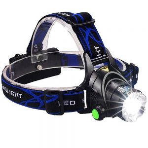 GRDE Zoomable 3 Modes Super Bright LED Headlamp
