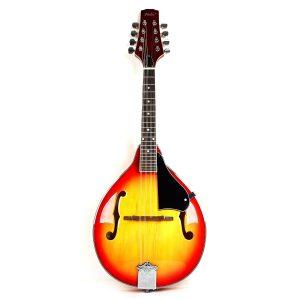 Hola! HM-CS Deluxe A Style Mandolin w Adjustable Truss Rod, Cherry Sunburst