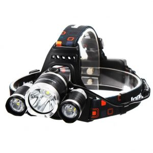InnoGear 5000 Lumen Bright Headlight Headlamp Flashlight Torch 3 CREE XM-L2 T6 LED
