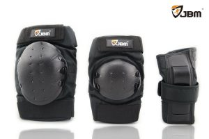 JBM Adult Child Knee Pads Elbow Pads Wrist Guards 3 In 1 Protective Gear Set For Multi Sports Skateboarding Inline Roller Skating Cycling Biking BMX Bicycle Scooter