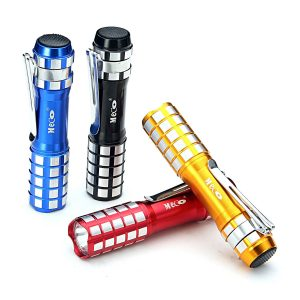 MECO Mini Flashlight LED Keychain Flashlight Portable Torch Light with Pocket Clip