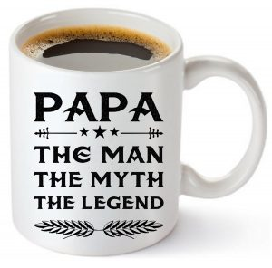 MuggiesTM Papa Mug - Gift For Dad And Grandpa! Coffee Tea 11oz Cup. Unique Gifts For Men & Husband! Christmas, Birthday, Father's Day - Papa The Man The Myth The Legend! + Woodworking Ebook By MuggiesTM