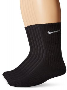 Nike Men's Performance Cotton Cushioned Crew Socks Six Pair