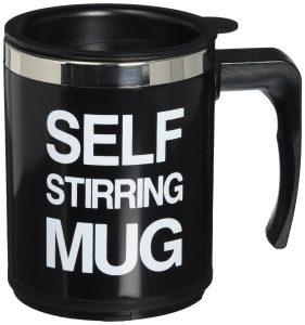 OliaDesign Self Stirring Coffee Mug, Black