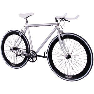 Projekt Silver Fixie Bike 700c Single-Speed track bicycle with flip-flop hub