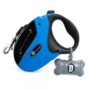 Retractable Dog Leash, TaoTronics Pet Leash Dog Lead 16ft for Small Medium Large Dogs up to 110lbs, Tangle Free, One Button Break & Lock + FREE Dog Waste Bags