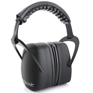 Sumsonic Safety Ear Muffs Shooters Hearing Protection with Folding Padded Head Band and Comfortable Ear Cups,