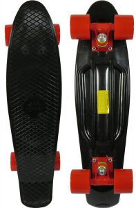 Sun Boards 22 Complete Skateboard Black Deck Colorful Wheels and Trucks