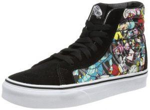 Vans Unisex Sk8-Hi Reissue Disney Skate Shoe-Rabbit HoleBlack