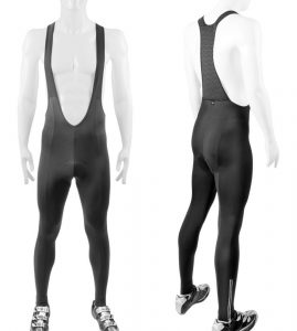 ATD Men's Bib Tights - Thermal Stretch Fleece PADDED for Cycling