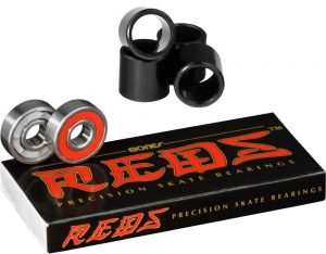 Bones Reds Precision Skate Bearings (8 Pack w Spacers)