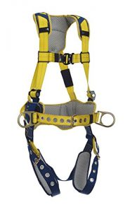 DeltaComfort 1100797 Fall Arrest Kit with BackSide D-Rings, Belt with Pad, Tongue Buckle Leg Straps and Comfort Padding, Large, NavyYellow