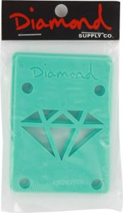 Diamond 18 Risers Diamond Blue Single Set Skateboarding Risers Pads