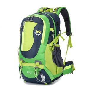 Elaiya 45L Waterproof Outdoor Backpack Breathable Hiking Daypack with Bearing System