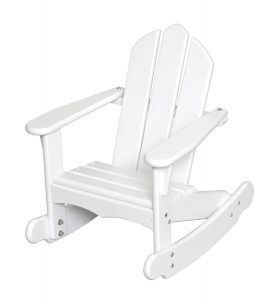 Little Colorado Child's Adirondack Rocking Chair- White