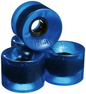 Penny 4-Set Translucent Skateboard Wheels, Blue, 59mm