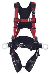 Protecto Pro 1191434 Fall Arrest Kit with BackSide D-Rings, ShoulderHipLeg Padding, Pass Thru Buckle Chest and Tongue Buckle Legs, X-Large