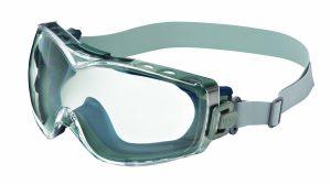 Uvex S3970D Stealth OTG Safety Goggles, Navy Body, Clear Dura-streme HardcoatAnti-Fog Lens, Neoprene Headband
