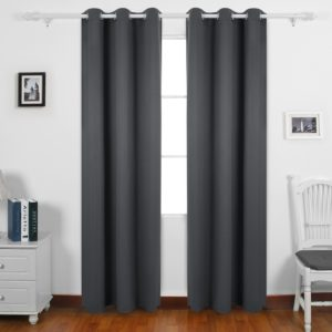 Deconovo Room Darkening Thermal Insulated Blackout Grommet Window Curtain Panel for the lounge