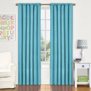 Obscure Kids Kendall Room Darkening Thermal Curtain Panel, turquoise, 63-inch