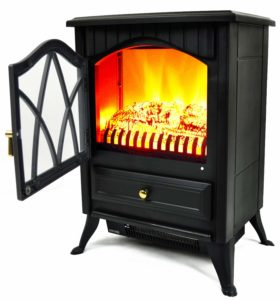 Best Budget: AKDY Retro-Style Electric Stove Heater Fireplace