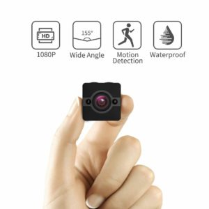 Mini Spy Camera Hidden Cam, Waterproof 1080P Full HD Cameras with 155° Wide-Angle Lens, Nanny/Housekeeper Cam with Night Vision & Motion Detection