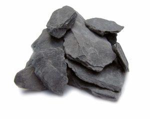 Natural Slate Stone -1to 3 inch Rocks for Miniature or Fairy Garden, Aquarium, Model Railroad & Wargaming 2lbs