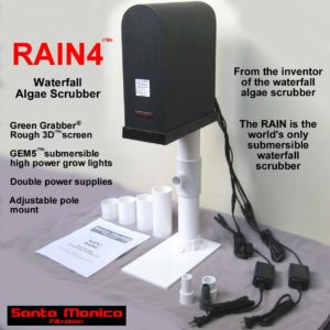 RAIN4 (tm) pole mounted waterfall algae scrubber ATS