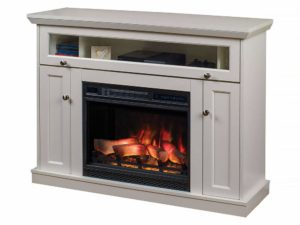 Windsor Wall or Corner Infrared Electric Fireplace Media Cabinet in White -23DE9047-PT01