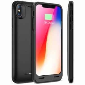 iPhone X/XS Battery Case with Qi Wireless Charging, Snowpink 4200mAh Slim Portable Charger Case