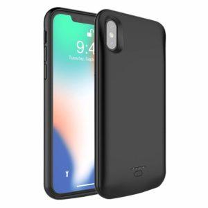 iPhone XXS Battery Case,MAXBEAR 4000mAh Portable Ultra Slim External Battery Charging Case Support Headphones