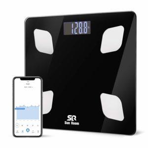 Bluetooth Body Fat Scale- Wireless Digital Bathroom Weight Scale- SR SunRoom Smart BMI Scale