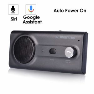 2020 Avantree CK11 Bluetooth Hands Free Car Kit, Connects with Siri & Google Assistant, Auto On Off, Wireless in Car Handsfree Speakerphone