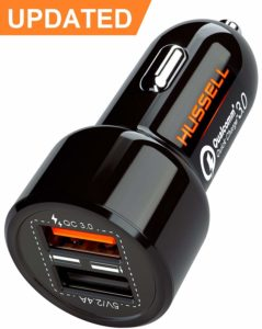 HASSELL 5.4A 30W Dual USB Car Charger Adapter
