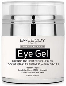 Baebody Eye Gel for Appearance of Dark Circles, Puffiness, Wrinkles and Bags. - for Under and Around Eyes - 1.7 fl oz