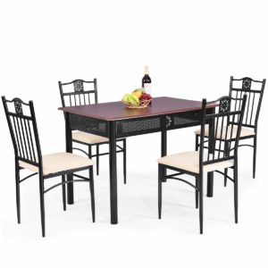 Tangkula 5 piece dining table