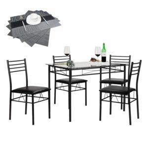 VECELO 5-piece dining table set