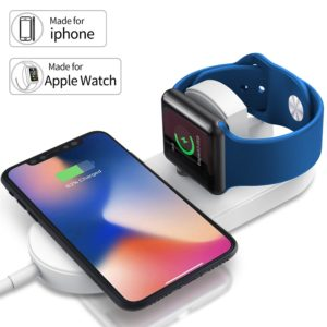 YUUDIS [UPGRADED] 2 in 1 Wireless Charger With Magnetic Compatible Apple Watch Charger Holder